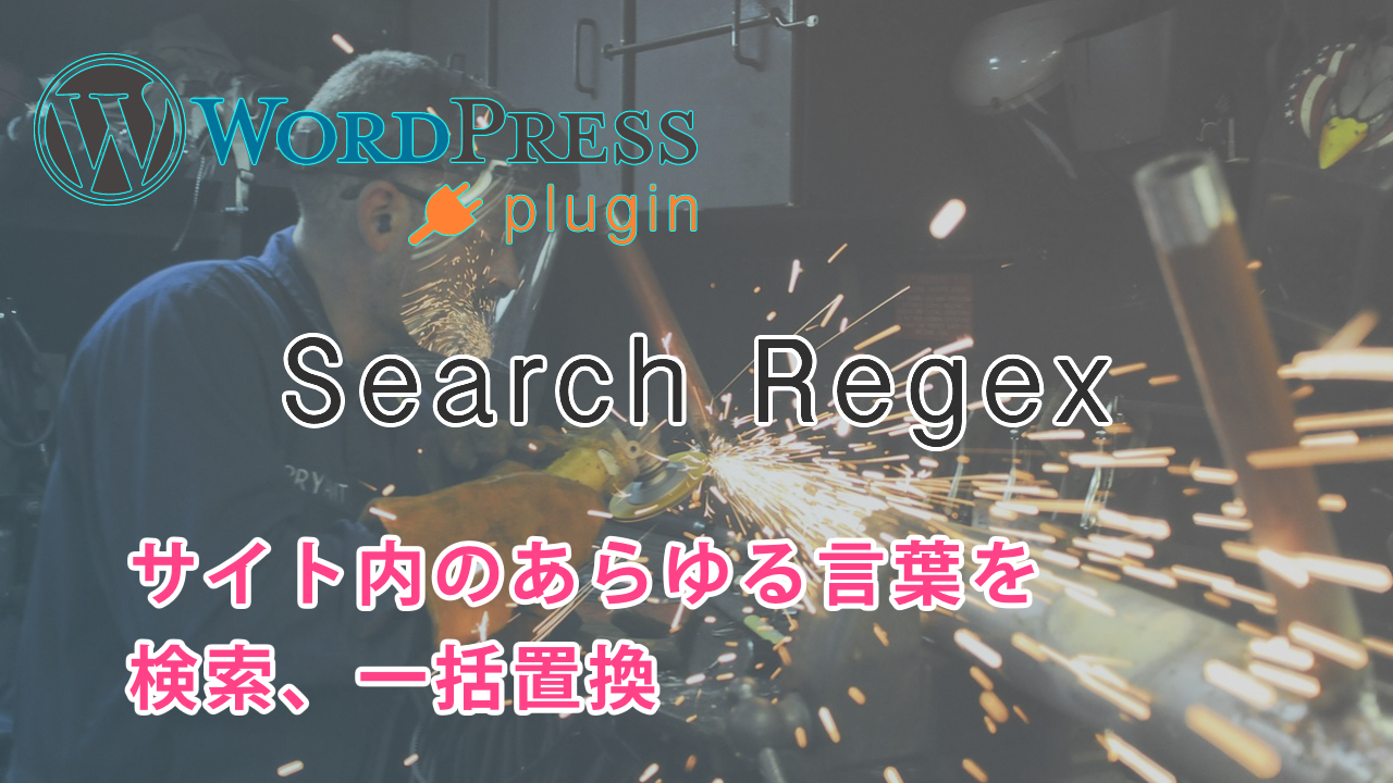 Search Regex - サイト内の文字列を一括置換!作業効率をUPさせよう
